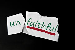 Faithful message Stock Images