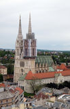 The faithful waiting in line in front of the cathedral to see the body of St. Leopold Mandic, Zagreb Stock Photo