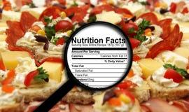 Faits de nutrition Photos stock