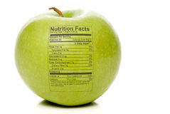 Faits de nutrition d'Apple photo libre de droits