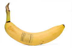 Faits de nutrition de banane Image libre de droits