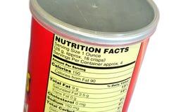 Faits de nutrition de pommes chips Image libre de droits