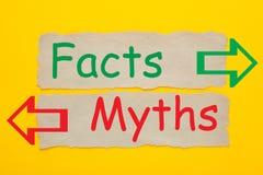 Faits et concept de mythes image libre de droits