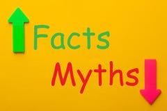 Faits et concept de mythes images libres de droits