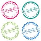 Faits et insigne de mythes d'isolement sur le blanc Photographie stock
