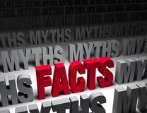 Faits lumineux contre des mythes foncés Photographie stock libre de droits