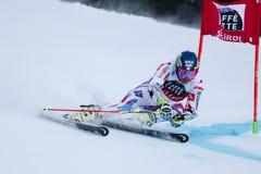 FAIVRE Mathieu nel gigante di Men's della tazza di Audi Fis Alpine Skiing World Fotografia Stock Libera da Diritti