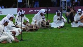 Faixa árabe da música video estoque