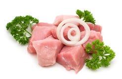Faixa crua da carne de porco Fotografia de Stock