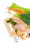Faixa crua da galinha Imagens de Stock