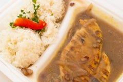 Faixa da galinha com arroz Foto de Stock Royalty Free