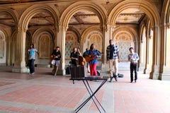 Faixa da música de gospel, Central Park, New York City, EUA imagem de stock