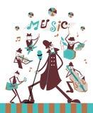 Faixa da música na fase ilustração stock