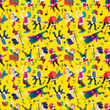 Faixa da música rock dos desenhos animados Imagem de Stock