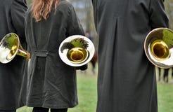Faixa da trompa francesa Fotografia de Stock Royalty Free