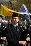 Faixa da tubulação de Thurso no Carlow Pan Celtic Festival Fotos de Stock