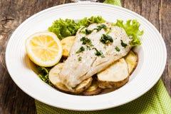 Faixa de bacalhau cozida Fotografia de Stock
