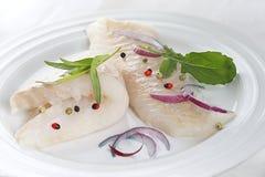 Faixa de bacalhau crua Fotos de Stock