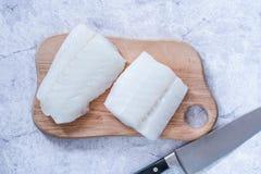 Faixa de bacalhau da fileira imagem de stock
