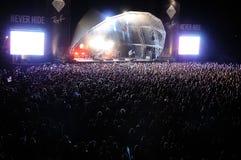A faixa de Deerhunter executa no festival 2013 do som de Heineken primavera fotografia de stock royalty free