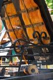 Faixa de fumado salmon em uma madeira no assado Fotos de Stock