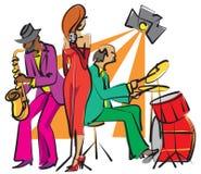Faixa de jazz Imagem de Stock