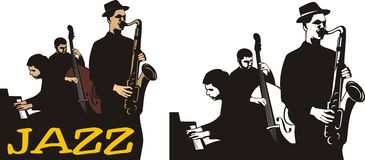 Faixa de jazz Fotografia de Stock Royalty Free