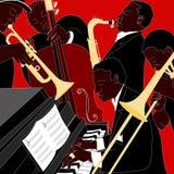 Faixa de jazz Foto de Stock Royalty Free