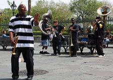 Faixa de jazz de Nova Orleães Fotografia de Stock Royalty Free