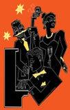 Faixa de jazz em um fundo colorido Foto de Stock Royalty Free