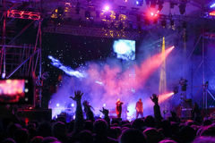 Faixa de Kasta no concerto Fotos de Stock