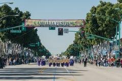 Faixa de Lynwood High School Marching da came famosa da cidade do templo fotos de stock