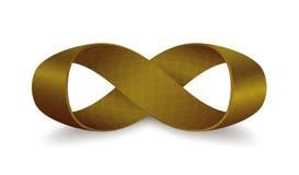 Faixa de Mobius com 360 graus de rotação ilustração royalty free