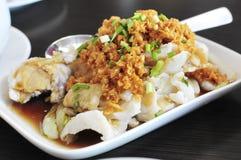 Faixa de peixes com alho Fotografia de Stock