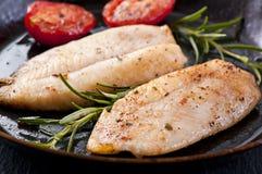 Faixa de peixes fritada Imagens de Stock