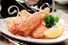 Faixa de peixes fritada Fotografia de Stock
