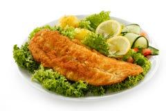 Faixa de peixes fritada Imagens de Stock Royalty Free