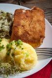 Faixa de peixes fritada do bacalhau Fotos de Stock Royalty Free