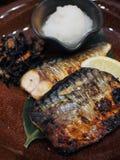 Faixa de peixes grelhada Fotos de Stock