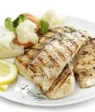 Faixa de peixes grelhada Foto de Stock Royalty Free