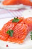 Faixa de peixes vermelhos fotografia de stock royalty free