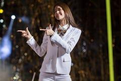 Faixa de SNSD no festival de EquilibriumConcert Coreia da cultura humana em Vietname imagem de stock