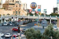 Faixa de travessia na tira, Las Vegas Imagens de Stock