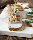 Faixa deliciosa do porco assado Fotos de Stock Royalty Free