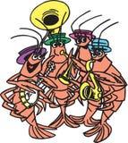 Faixa do camarão Fotos de Stock Royalty Free