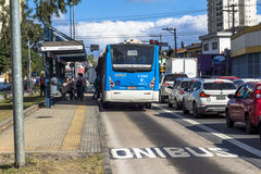 Faixa do ônibus Fotografia de Stock Royalty Free