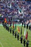 Faixa do noroeste do futebol dos Wildcats Foto de Stock Royalty Free