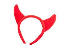 Faixa dos chifres do diabo vermelho imagens de stock