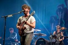 Faixa dos potros no concerto no festival de Dcode Fotografia de Stock Royalty Free