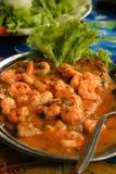 Guisado dos peixes e do camarão Foto de Stock Royalty Free